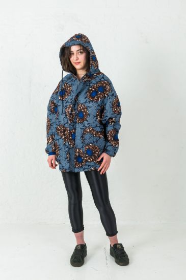 Multi-colour Unisex Hoodie African Printed Patterns